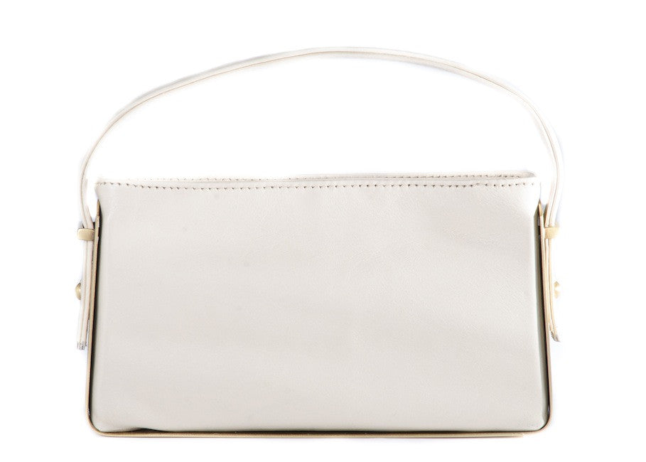 Françoise Elizée - Dainty Clutch in Ivory Leather - Oluwa & Celestin