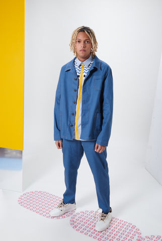Laurenceairline - Djerba Blue Work Jacket