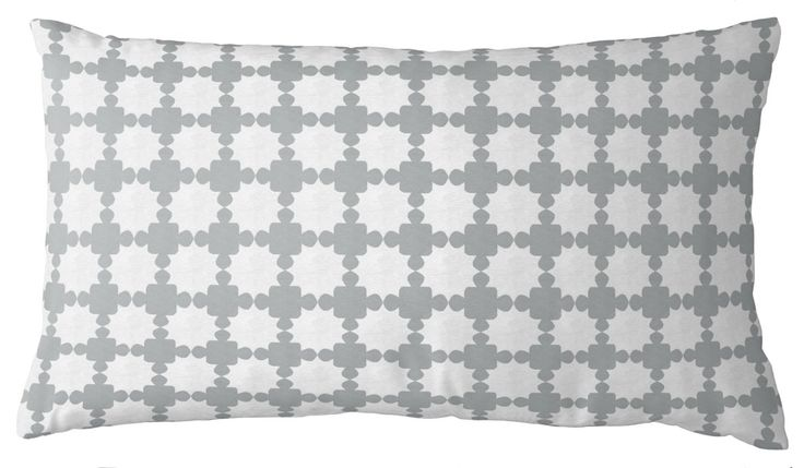 AphroChic - Darro Lumbar Pillow in Gray