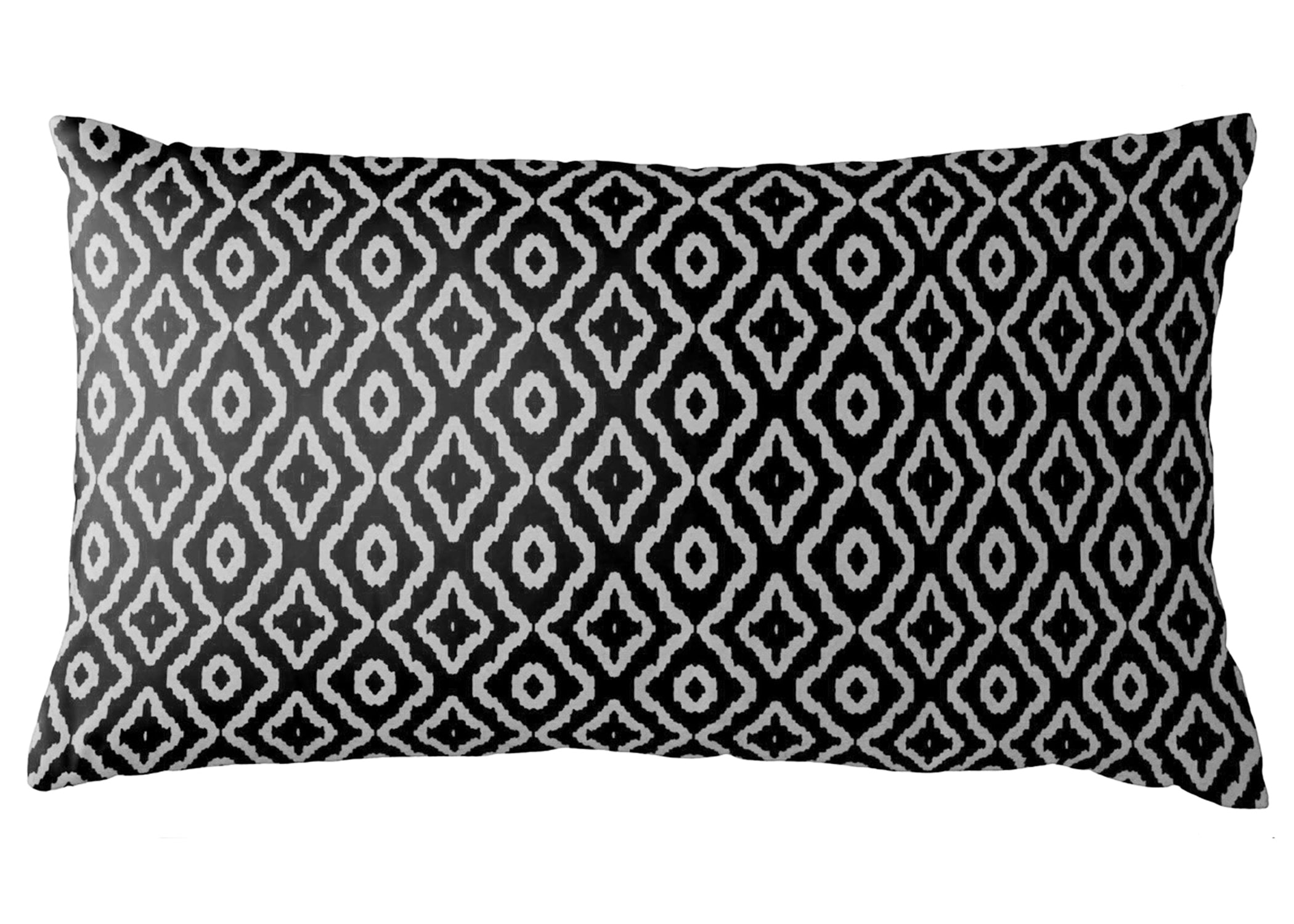 AphroChic - Haze Petite Lumbar Pillow in Black & White