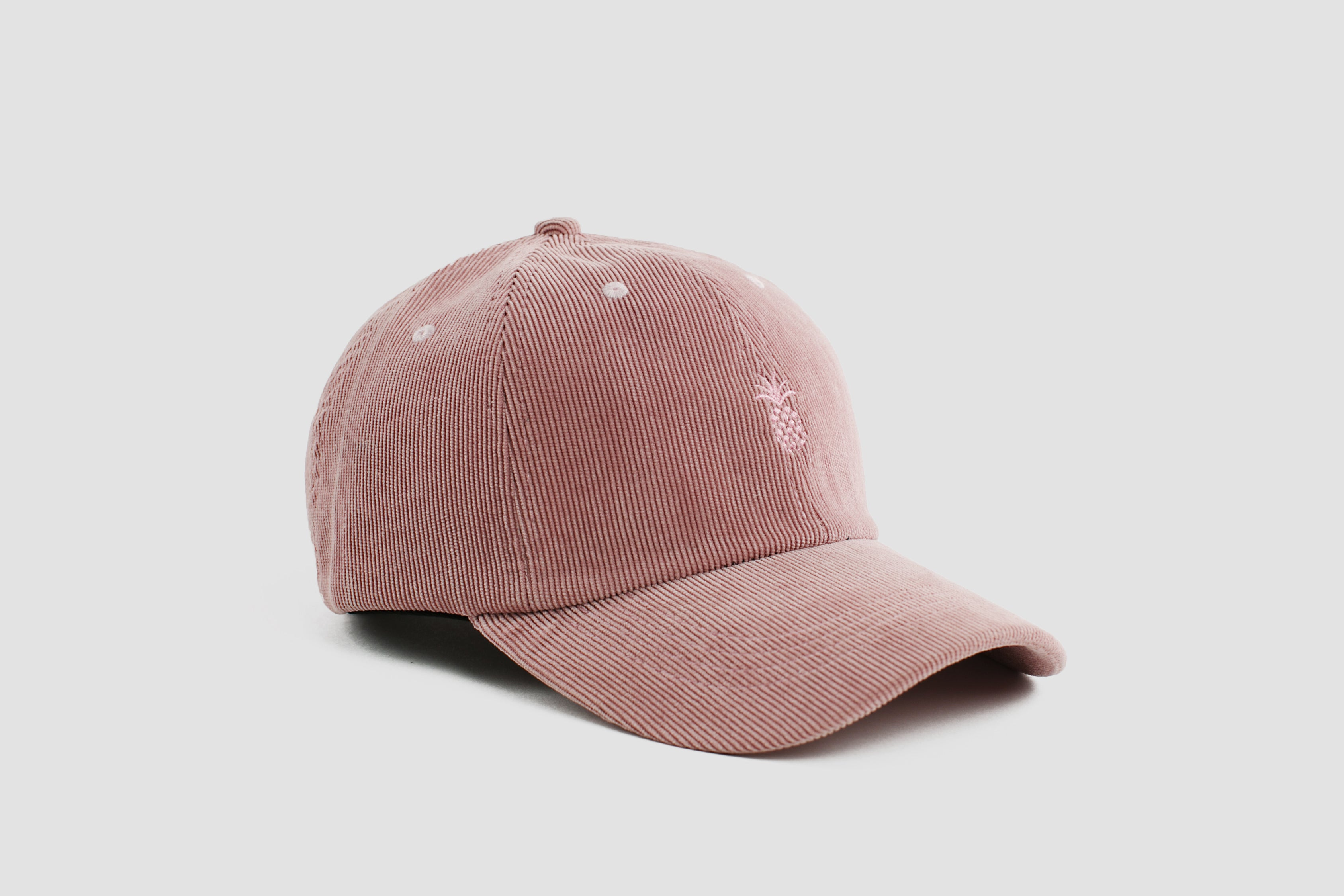 Qilo - Pineapple Corduroy Dad Hat in Dusty Rose