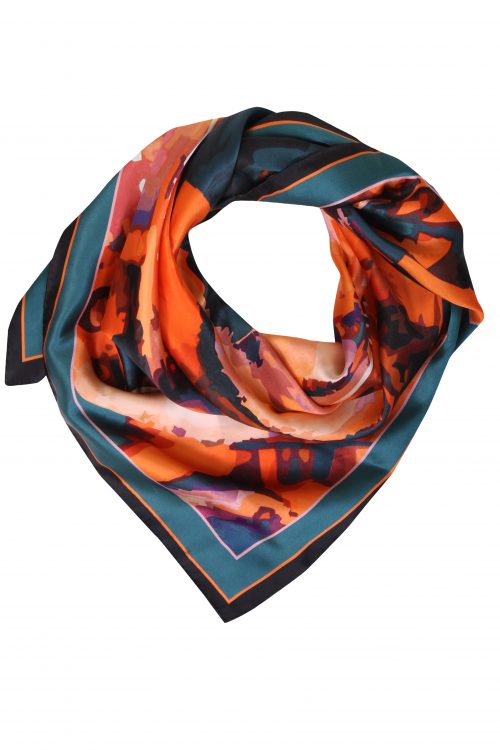 Fabryan - Orange Silk Neckerchief