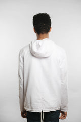Qilo - Seersucker Anorak Jacket in White