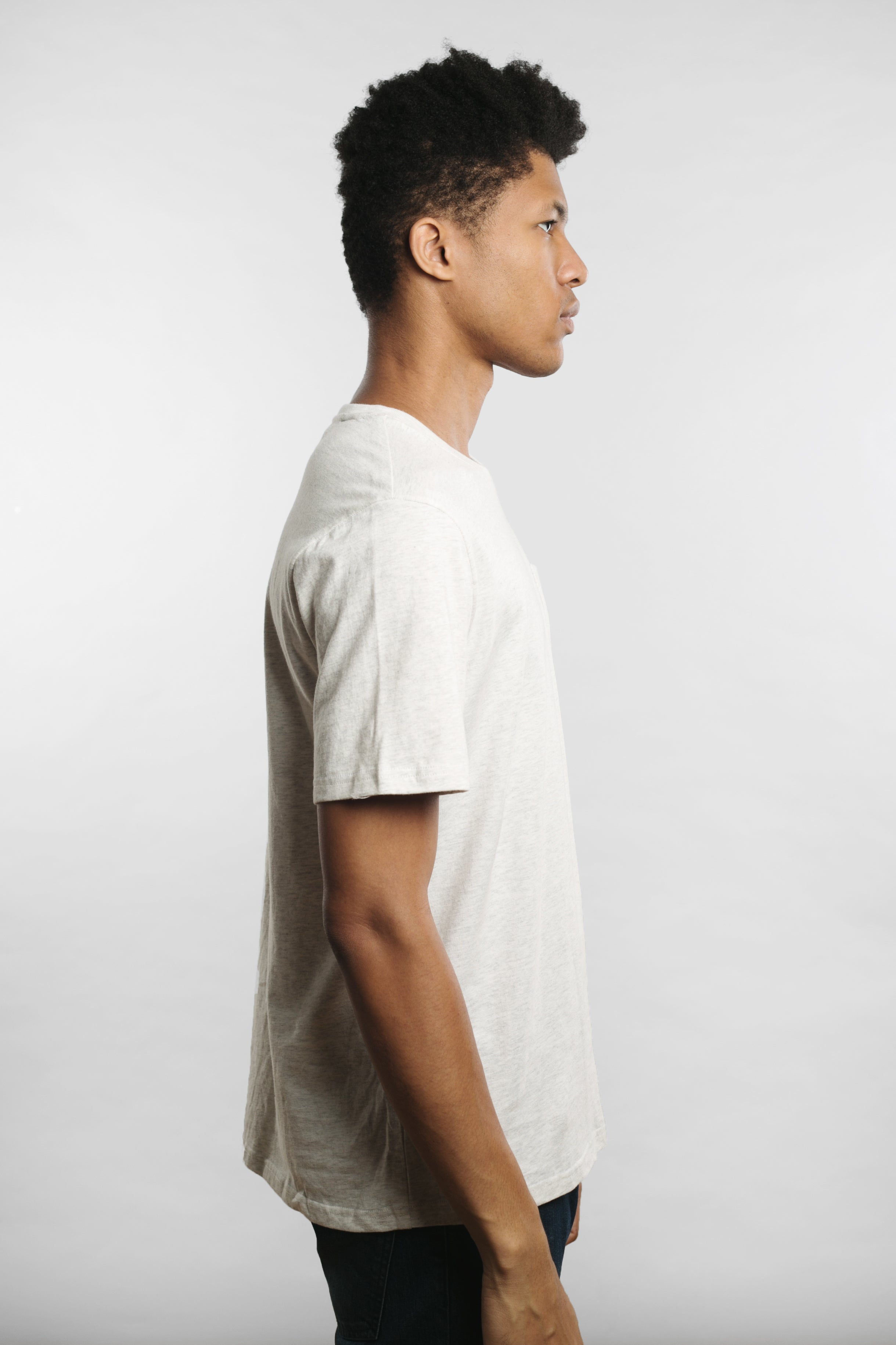 Qilo - Pineapple Pocket T-Shirt in Heather Grey