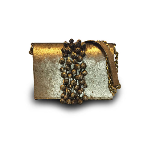 Kamilah Willacy - Hulet Bucket Clutch in Nude