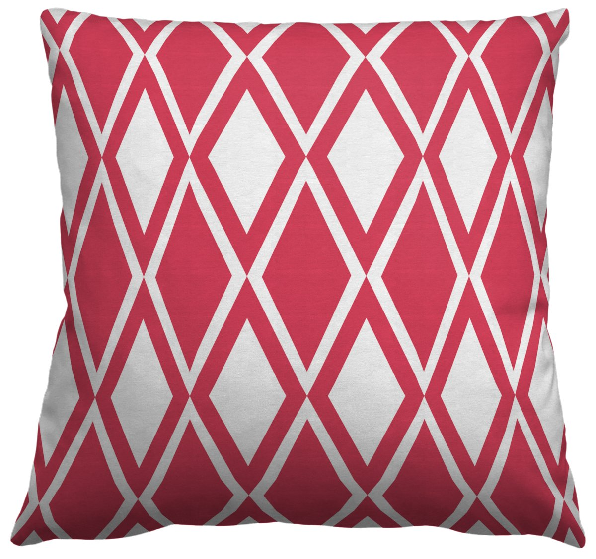 AphroChic - Kuba Pillow in Coral & White