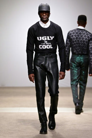 "Tokyo James - ""Ugly Is The New Cool"" Jumper & Leather Trousers"