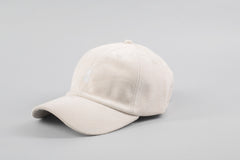 Qilo - Suede Dad Hat in Cream