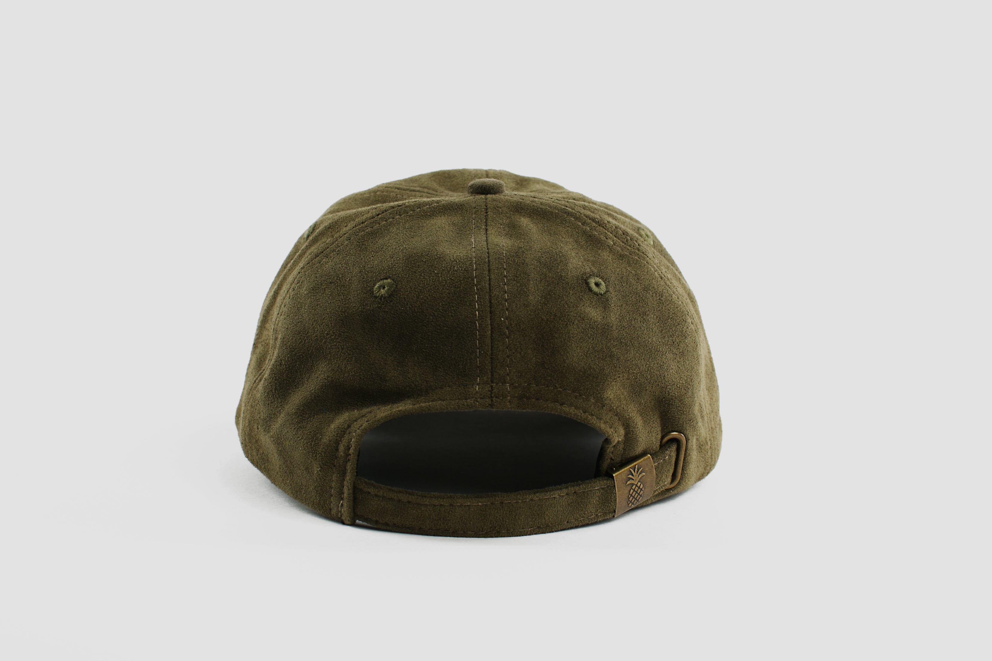 Qilo - Pineapple Suede Dad Hat in Dark Olive