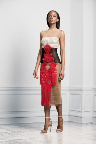 Sukeina - Three Quarter Chandelier Dress - Oluwa & Celestin