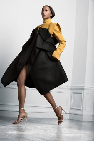 Sukeina - Cookie Coat in Black & Gold - Oluwa & Celestin