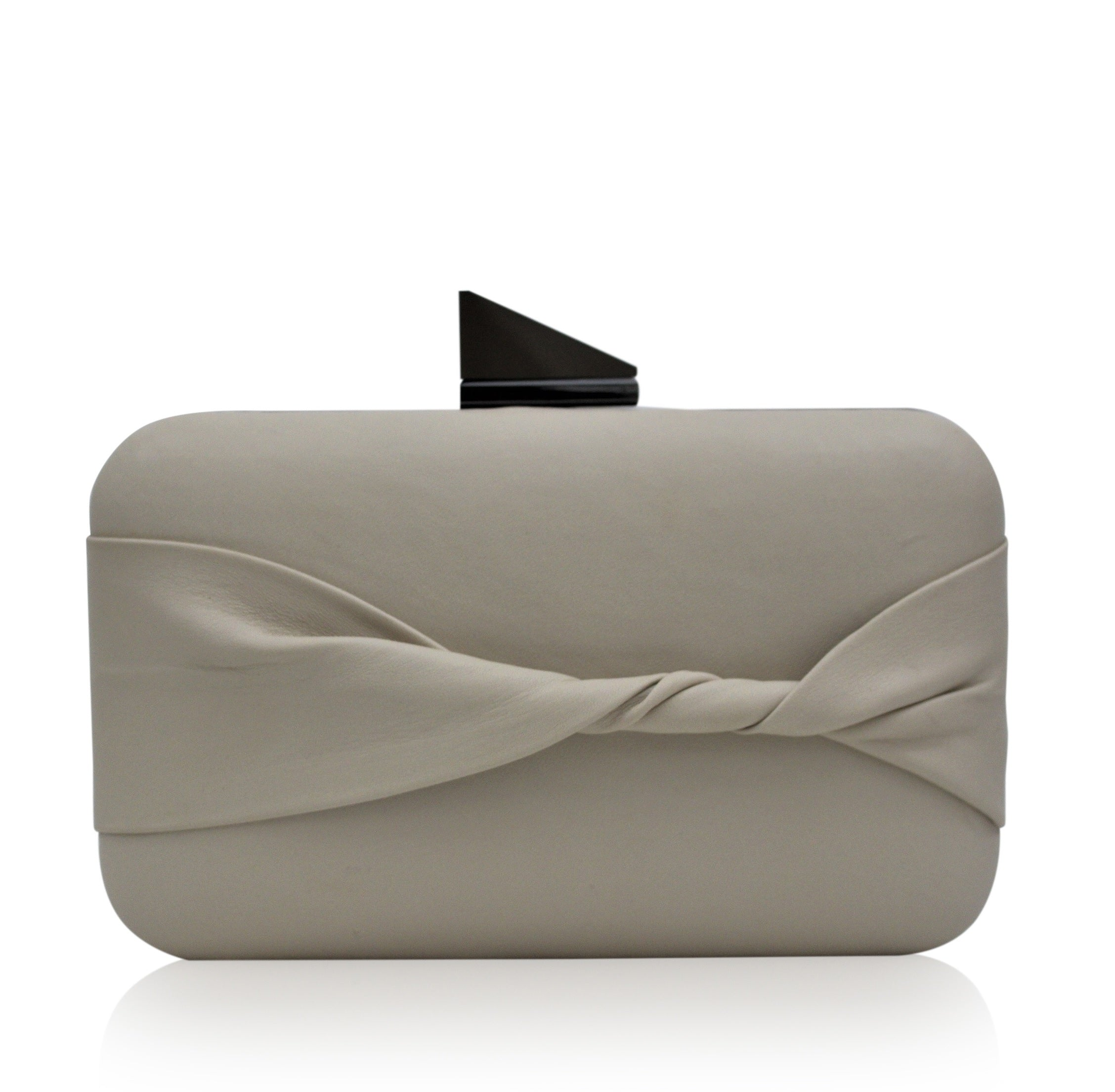 Kamilah Willacy - Shelie Oversized Clutch in Bone