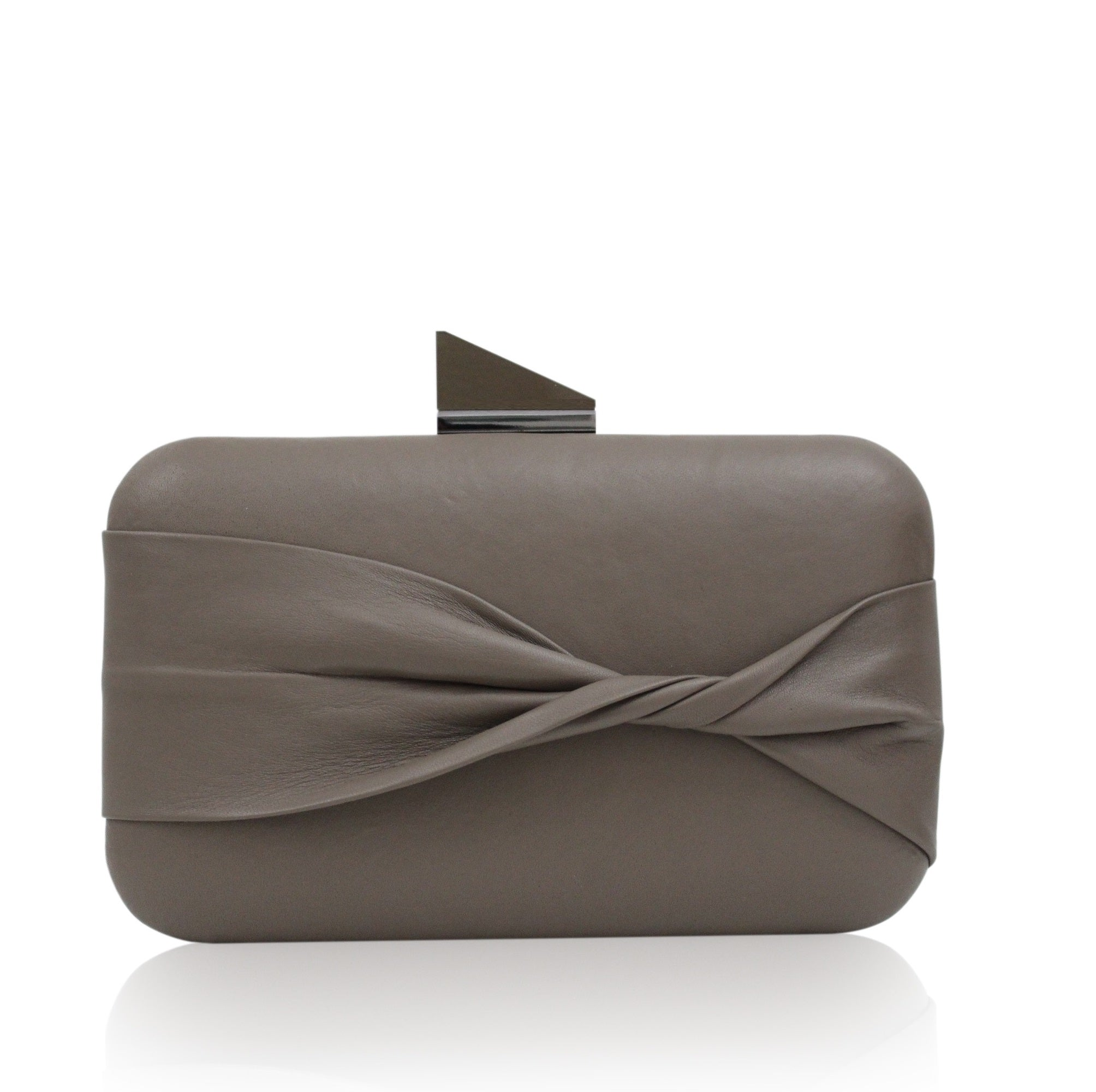 Kamilah Willacy - Shelie Oversized Clutch in Cedar Brown