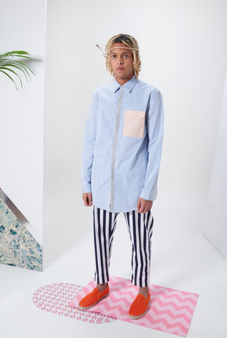 Laurenceairline - Sunset Blue Long Sleeve Shirt