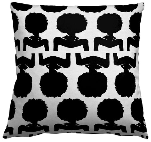 AphroChic - Kuba Pillow in Black & White
