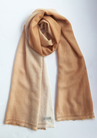 Malene B - Cashmere Wool Poncho in Cocoa Butter