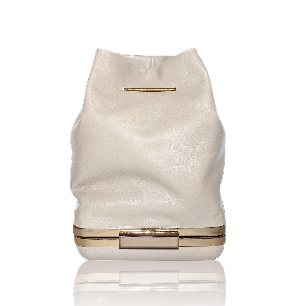 Kamilah Willacy - Hulet Bucket Clutch in Ivory