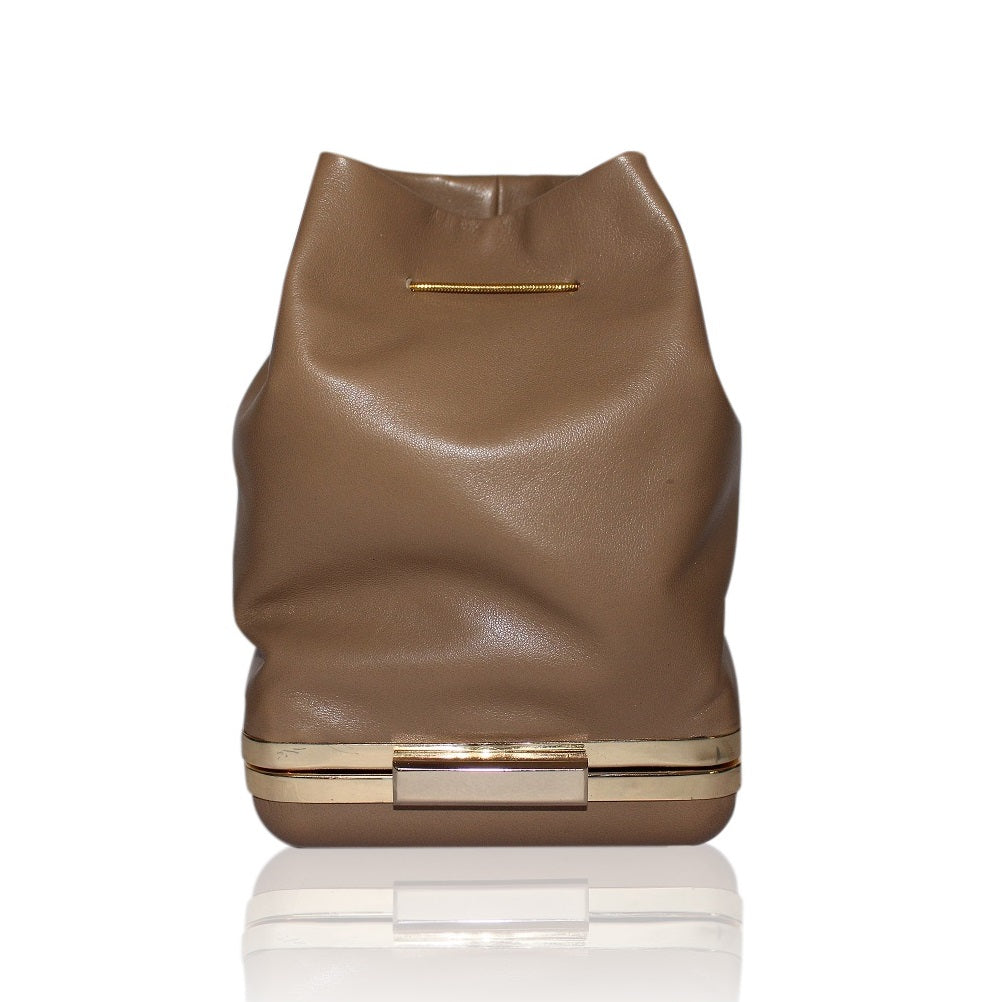 Kamilah Willacy - Hulet Bucket Clutch in Clay