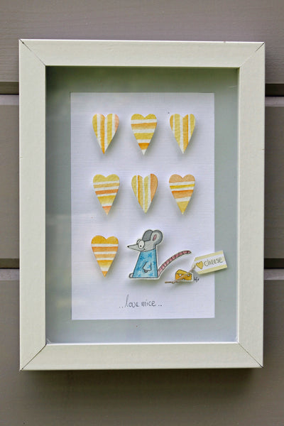 Mouse....3D Framed Watercolour Picture