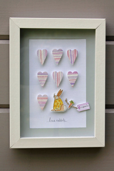 Rabbit....3D Framed Watercolour Picture