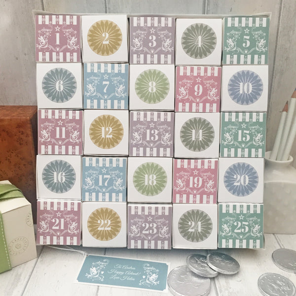 Advent Calendar with personalised message tag