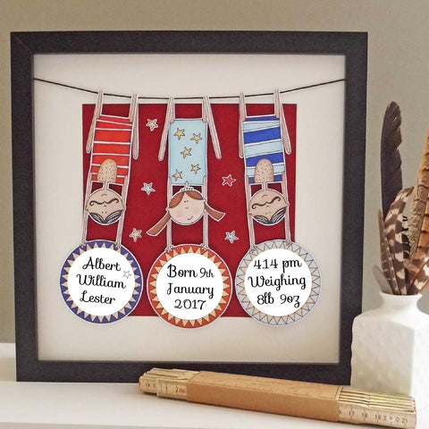 'The Acrobats' Framed Personalised Picture