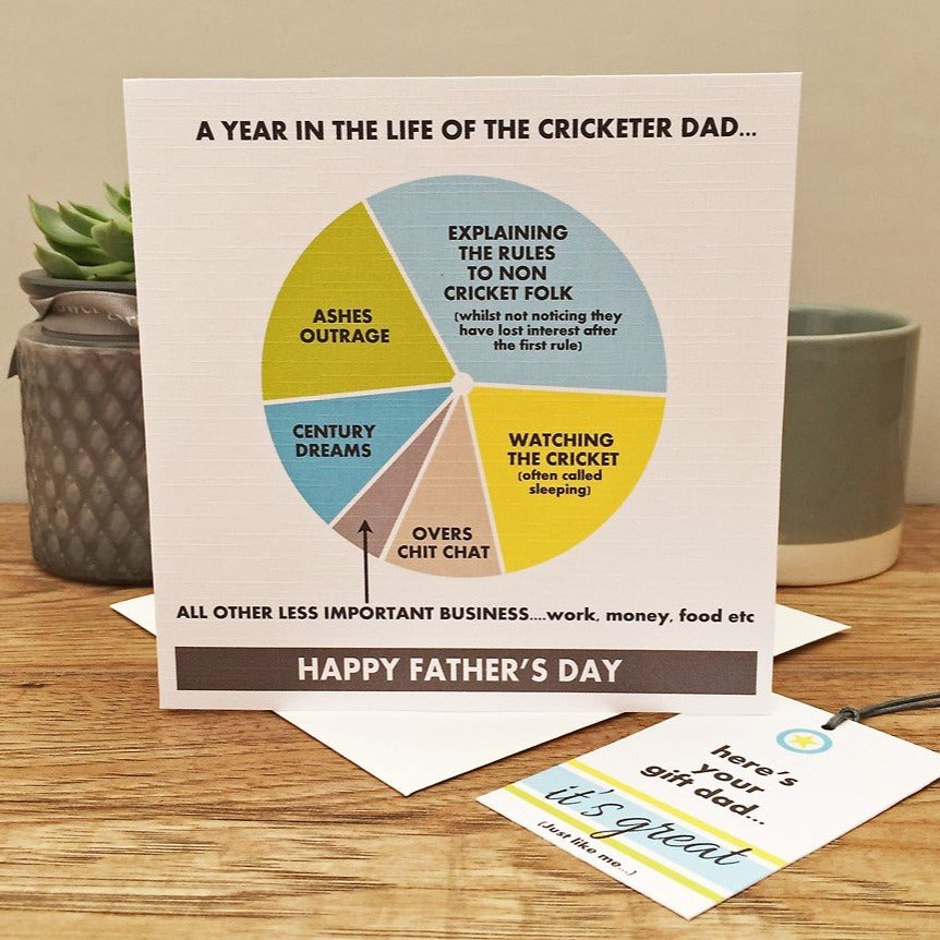 Father's Day Cricketer Card and Tag