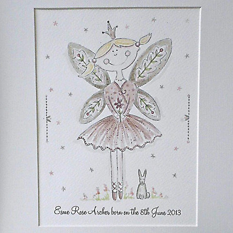 Woodland Fairy Personalised Watercolour