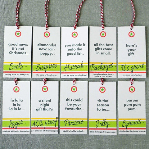 Christmas Gift Tags. Set of 10