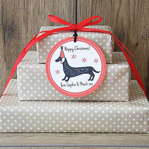 Dachshund Personalised Gift Tags
