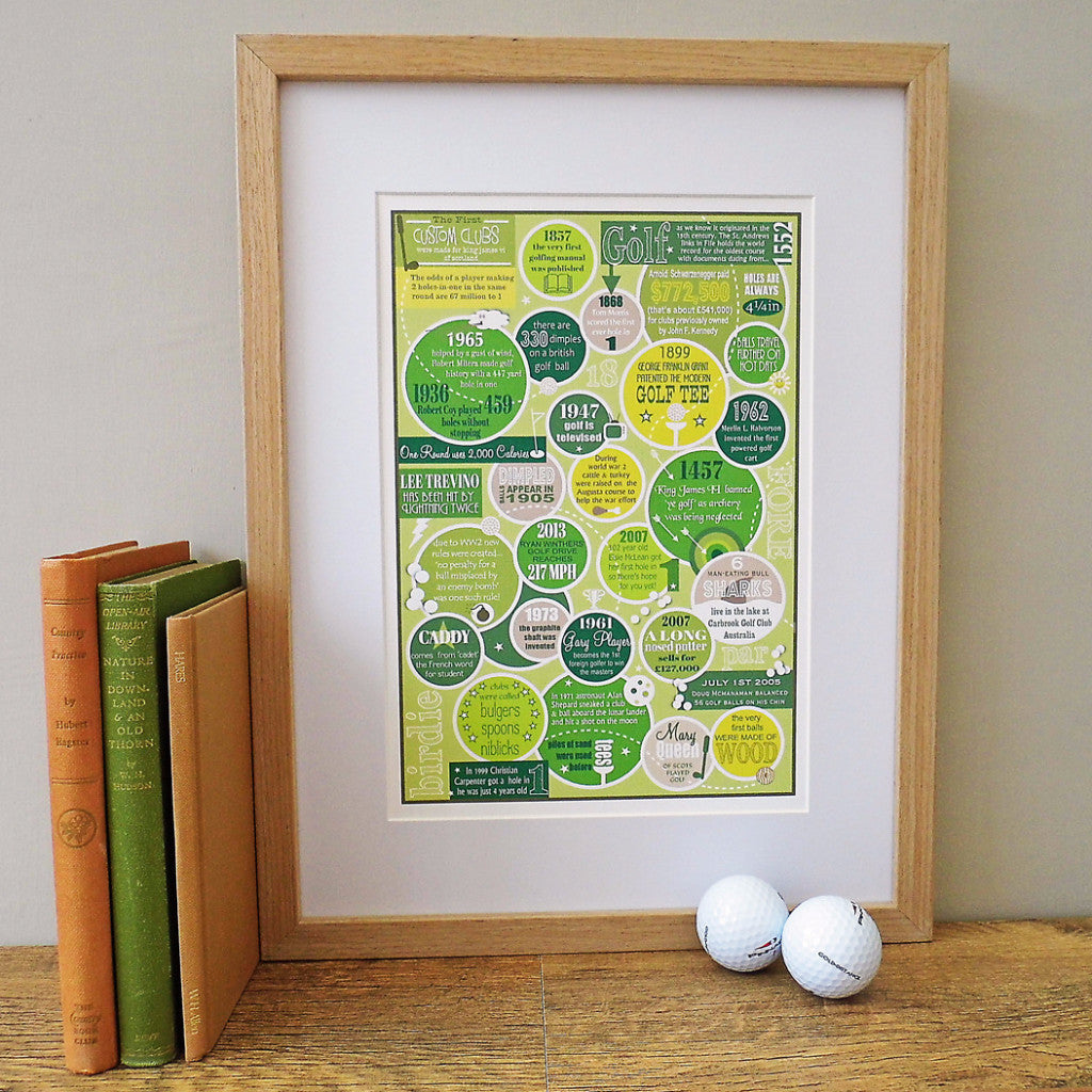 The Golfer.  Personalised Print Number 2