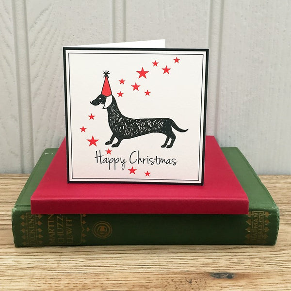 Dachshund Christmas Cards. Set of 12.