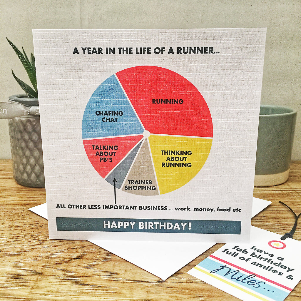 The Runner Birthday Card & Gift Tag