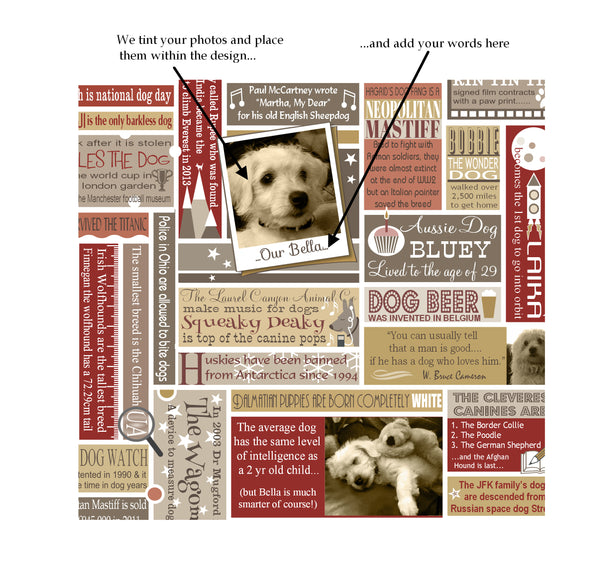 'My Dog' Personalised Photo Print in Red