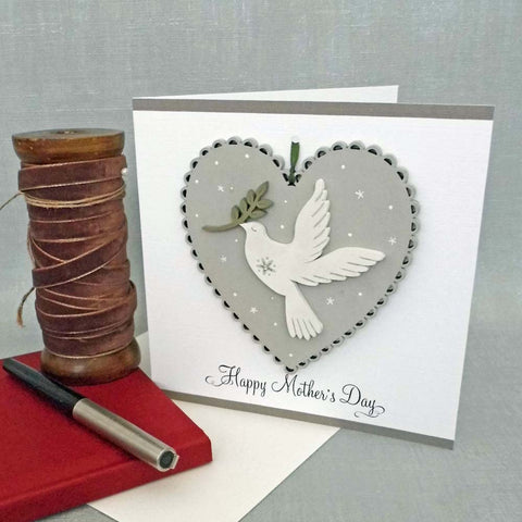 Hand Painted Wooden Heart Card