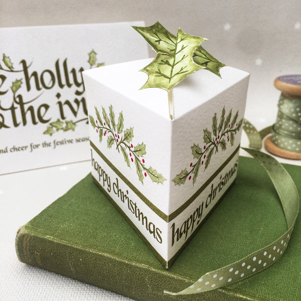 Holly Boxes- Set of 4