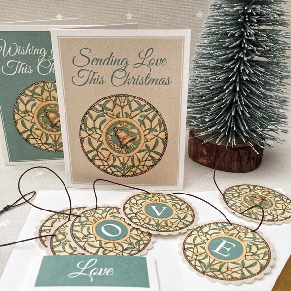 A Mistletoe Garland in a Card