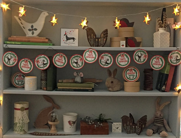 Christmas Poodle Bunting