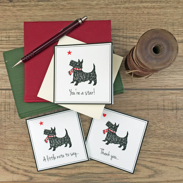 Scotty Dog Notecards-set of 6