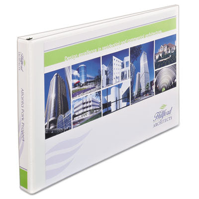 "11"" x 17"" Heavy-Duty View Binders, Locking 1-Touch EZD Rings, 1"" Cap, White, Sold as 1 Each"