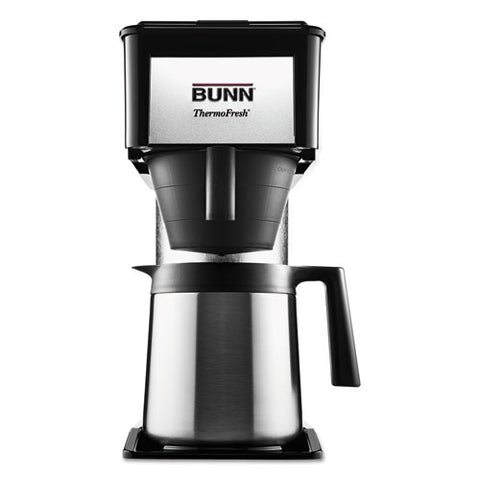 10-Cup Velocity Brew BT Thermal Coffee Brewer, Black, Stainless Steel, Sold as 1 Each
