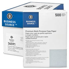 Business Source Premium Multipurpose Copy Paper, Sold as 1 Carton, 10 Ream per Carton