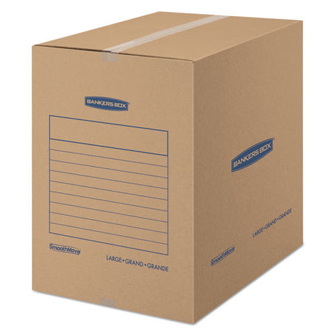SmoothMove Basic Large Moving Boxes, 18l x 18w x 24h, Kraft, 15/Carton, Sold as 1 Carton, 15 Each per Carton