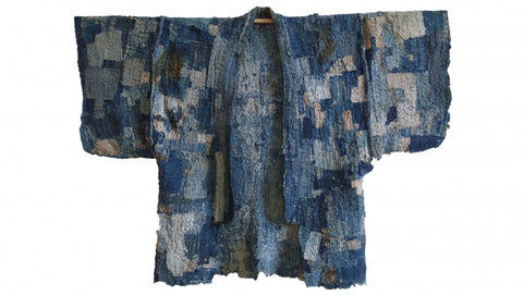 an example of authentic Japanese Boro Jacket from Edo period.
