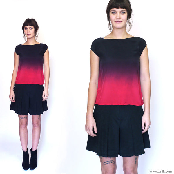 ROTHKO THREE.  ombre silk top
