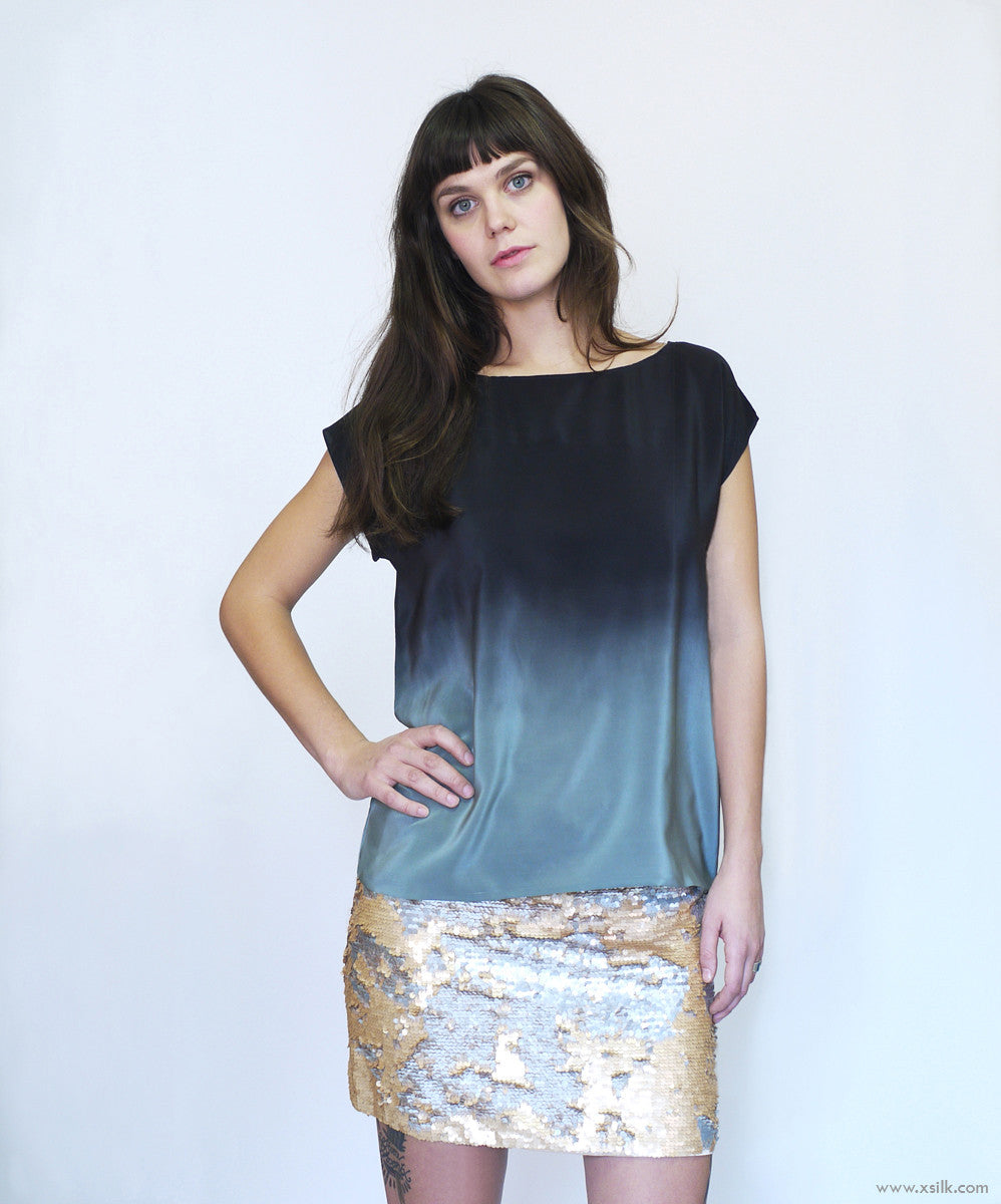 ROTHKO FOUR.  ombre silk top