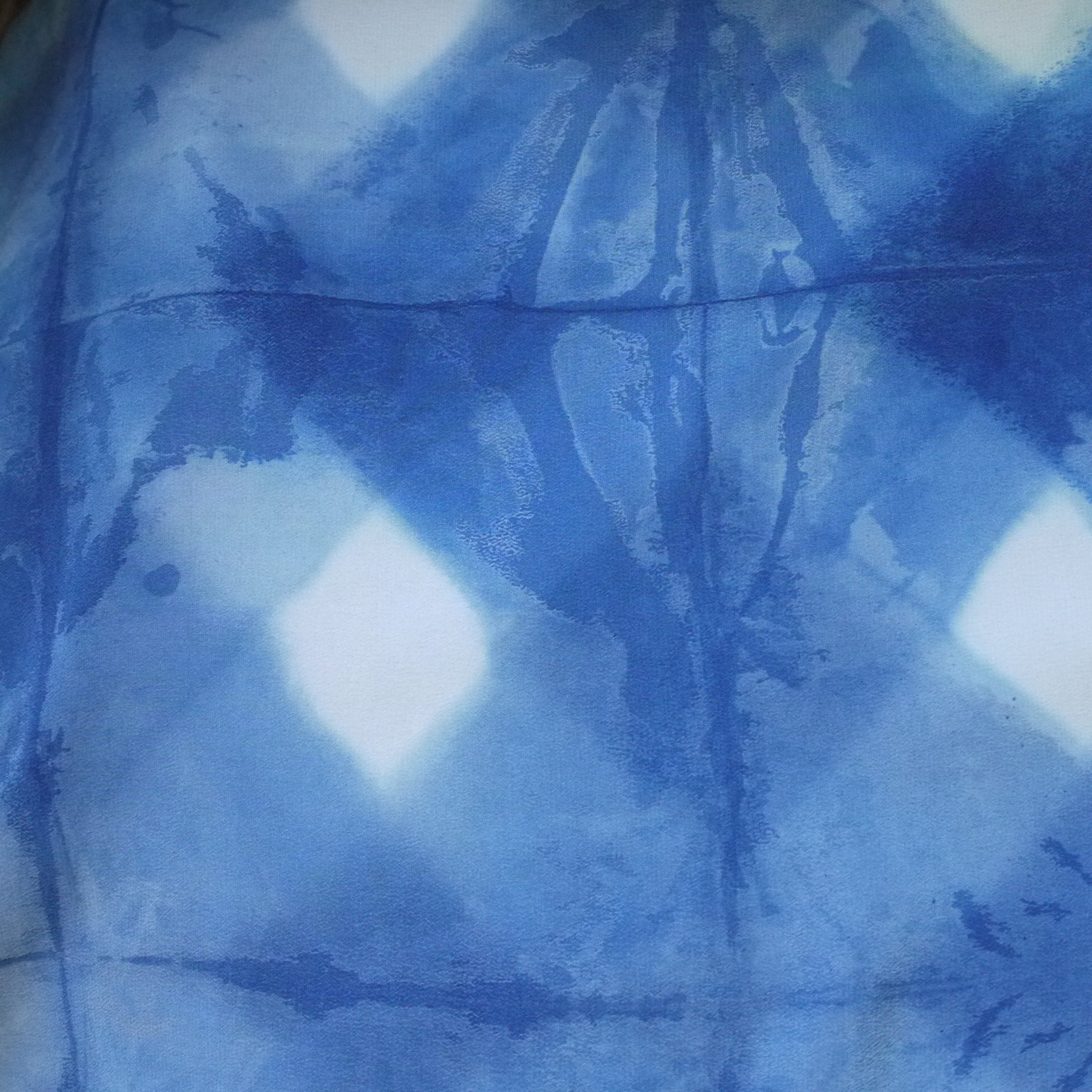 INDIGO DIAMOND shibori silk dress