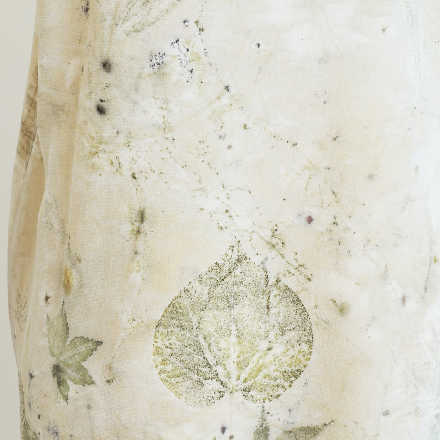 Leaf Print silk dress. Eco print, botanical dye dress. Sz. M