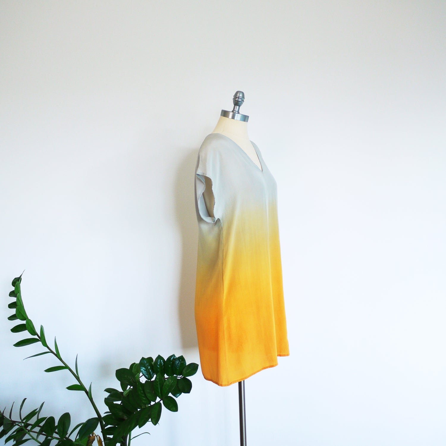 Sunrise Ombre Silk Dress, Medium.  Ready to ship