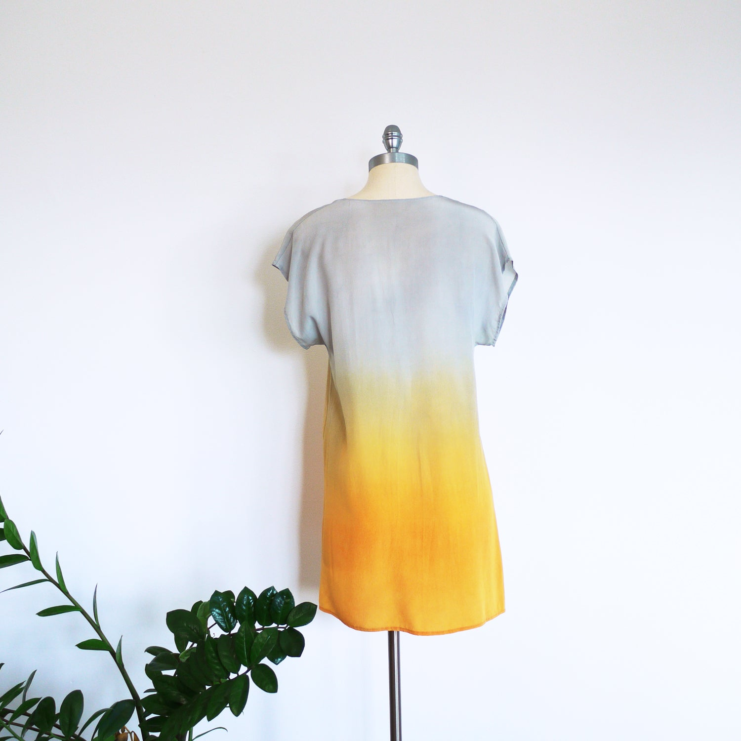 SUNRISE V-neck Ombre Silk Dress, Medium